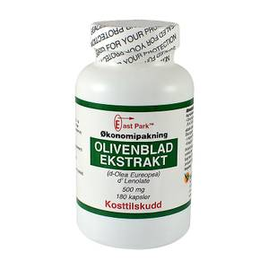 Bilde av East Park Olivenbladekstrakt STOR boks 500 mg 180 kapsler