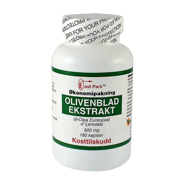 East Park Olivenbladekstrakt STOR boks 500 mg 180 kapsler