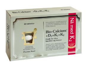 Bilde av Bio-Calcium 500 mg + D3 + K1 + K2 60 tabletter Pharma Nord