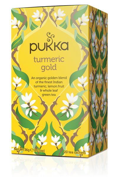 Pukka Turmeric Gold Green Tea 20 poser