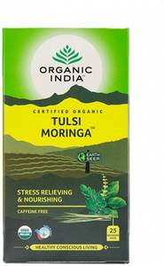 Bilde av Organic India Tulsi Moringa Tea 25 poser