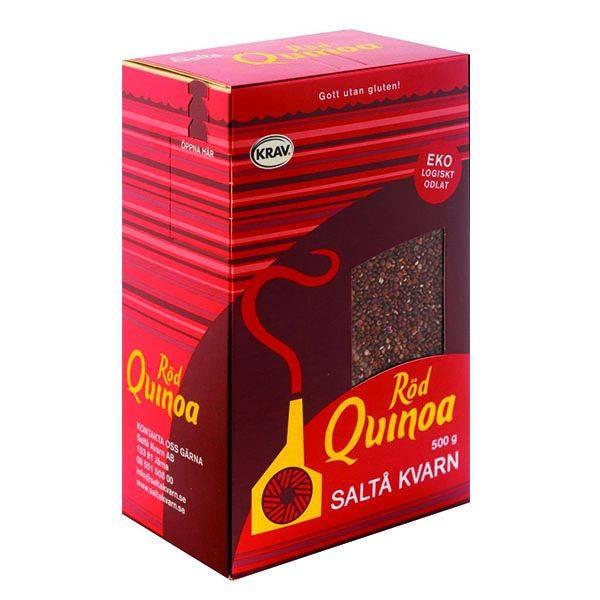 Saltå Kvarn Quinoa HEL rød 500 g
