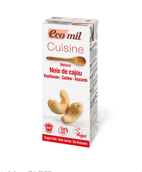 EcoMil Cashewmatfløte naturell 200 ml