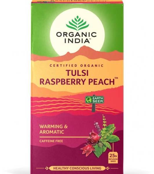 Organic India Tulsi Raspberry Peach Tea 25 poser