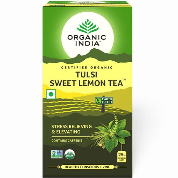 Organic India Tulsi Sweet Lemon Tea 25 poser